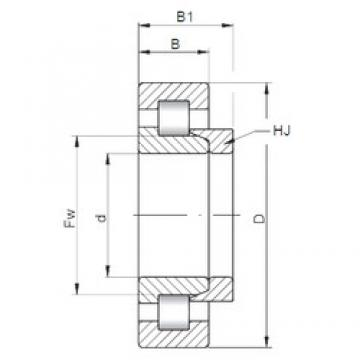100 mm x 180 mm x 34 mm  ISO NH220 cylindrical roller bearings