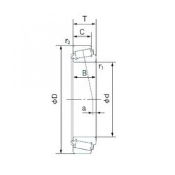 17 mm x 47 mm x 19 mm  NACHI 32303 tapered roller bearings